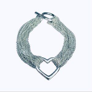 Authentic Tiffany & Co. Multistrand Heart Bracelet
